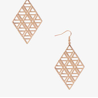 FOREVER 21 Cutout Geo Earrings Gold One