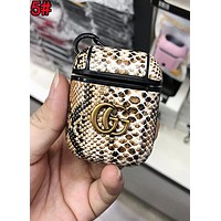 GUCCI Newest Double G Chic Snakeskin iPhone Airpods Headphone Case Wireless Bluetooth Headphone Protector Case Anti-Fall Protective Case(No Headphones) 5#