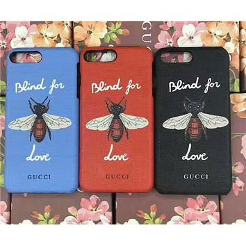 GUCCI Bee iPhone7plus Leather Print Painted 8x Case F-OF-SJK