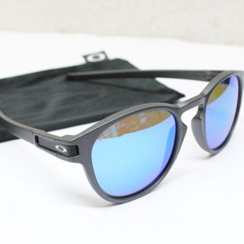 Tagre NEW OAKLEY Sunglasses LATCH Steel PRIZM Sapphire