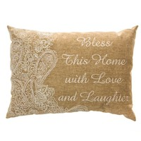 """""""Bless This Home"""" Decorative Pillow"""