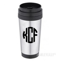Monogrammed Stainless Travel Coffee Mug | Marley Lilly