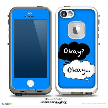 The Okay Speech Bubbles on Blue V3 Skin for the iPhone LifeProof Case