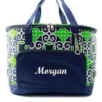 Monogrammed Cooler Bag Insulated Personalized Tote