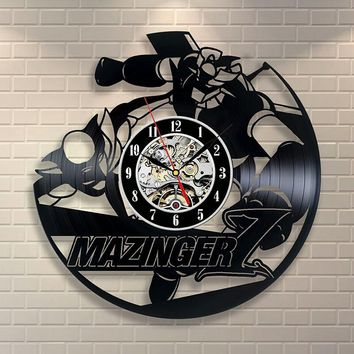 Mazinger Wall Art Vinyl Record Clock Home Decor Room Design