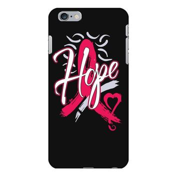 breast cancer awareness hope ribbon heart iPhone 6 Plus/6s Plus Case