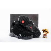 Air Jordan 14 Retro AJ14 Black Sneaker Shoe US 5.5-13