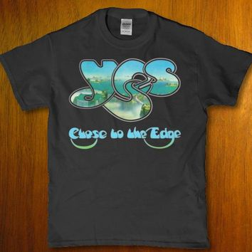 Yess chose to the edge awesome unique unisex adult t-shirt