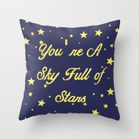 Sky Full Of Stars Throw Pillow by Laura Maria Designs