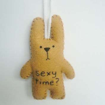 Christmas ornament tree decoration funny bunny - for office, nursury or gag gift