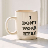 ban.do I Don't Work Here Mug | Urban Outfitters