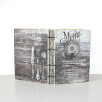 Recipe journal - Menu - Cook Book, Chef's gift, Culinary student,  handmade gifts, housewarming
