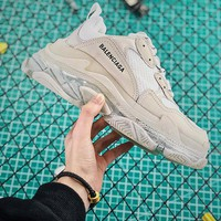 Balenciaga Triple S Clear Sole Trainers Sneakers White With Air Bubble - Best Online Sale