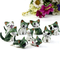 9Pcs/Set Resin Chi's Sweet Home Garden Decoration Ornaments Mini Crafts Bonsai Micro Landscape DIY Craft Fairy Garden Miniatures