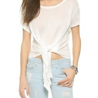 Ribbon Tie Front Tee