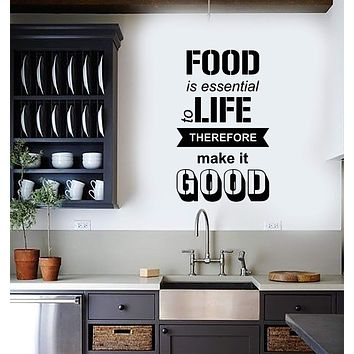 Vinyl Wall Decal Kitchen Quote Dining Room Food Interior Decor Stickers Mural (ig5712)