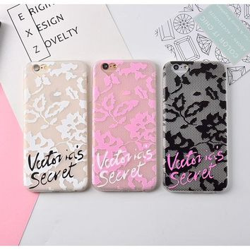 Hot black pink white Victoria secret scrub Transparent TPU case for iPone 6 case 6/6s plus