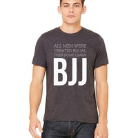 SOME LEARN BJJ * Brazilian Jiu Jitsu Gift * Unisex Men's Jersey T-Shirt