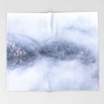 Beneath The Fog Throw Blanket by Mixed Imagery