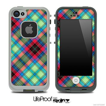 Green & Pink Plaid Skin for the iPhone 5 or 4/4s LifeProof Case