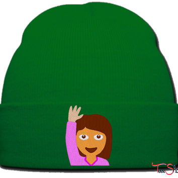 EMOJI GIRL beanie knit hat