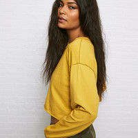 Don't Ask Why Cropped T-Shirt, Mustard
