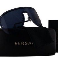 Versace Ve2180 Sunglasses Silver W/blue Lens 100080 Ve 2180