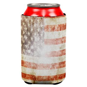 4th of July American Flag Star Spangled Banner All Over Can Cooler
