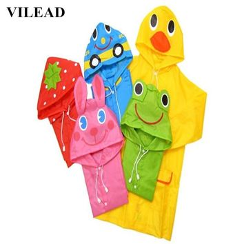 VILEAD Cartoon Oxford Children Rain Coat Baby Waterproof Rain Poncho Boy Girls Raincoat Student Rain Gear Cute Outdoor Rain Suit