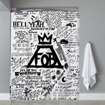 Top Famous Rock Band Fall Out Boy Collage Shower Curtain Limited Edition