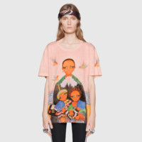 """ Gucci "" Women Fashion Print Image T-shirt top"