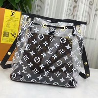 LV Transparent Bag  Shoulder Bag Two Piece Set Louis Vuitton jelly bag crystal Bag B-3A-XNRSSNB Black