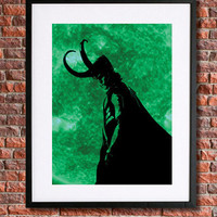 Loki Poster | Science Fiction Art | Super Hero | The Avengers | 8x10 Instant Download Printable | Science Fiction | Loki | Tom Hiddleston