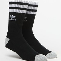 adidas Roller Black and White Crew Socks at PacSun.com