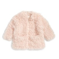 Girl's Stella McCartney Kids 'Sparkles' Faux Fur Coat ,