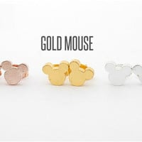 10k Gold plated Micky Mouse Earrings
