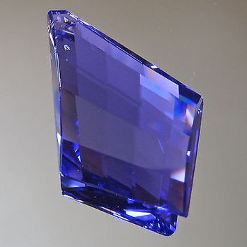 Swarovski Crystal Tanzanite Blue Violet Trellis Prism Ornament, 50mm,  logo