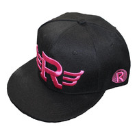 """R"" Embroidered Black Baseball Cap"