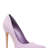 Lavender Faux Nubuck Pointy Toe Classic Pumps
