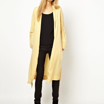 Wood Wood Indian Hill Longline Silk Coat