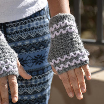 Hand warmer(grey and baby pink)