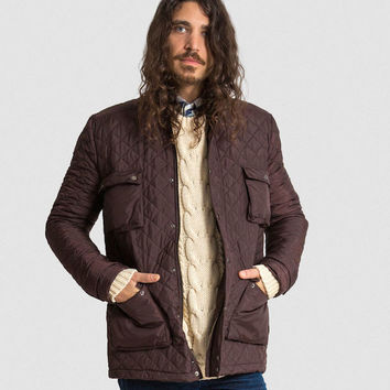 25% OFF: The Derek In Quilted - Cognac & Black (Insulated in Primaloft ECO)