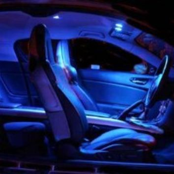 High Quality 1x NEW Car Interior Blue Color (18 LED Panel) with 3 Universal Fit Adapter