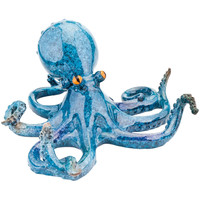 Octopus With Orange Eyes Glazed Figurine