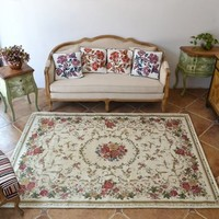 DIAIDI Rustic Area Rugs ,Vintage Shabby Traditional Rugs,Floral Rugs,Carpet Floral Print,Rugs and Carpets for Home Living Room