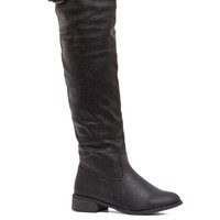Think Ahead Over The Knee Boots