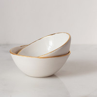 Gold Rimmed Bowls (Set of Two) – Suite One Studio