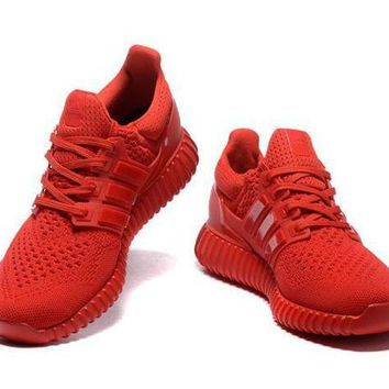Adidas Fashion Classic Women Men Running Sport Shoes Sneakers Pure Red I
