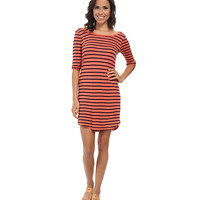 Splendid Navy Venice Stripe Dress Guava - 6pm.com