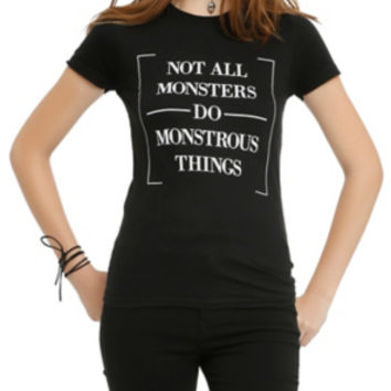 Teen Wolf Not All Monsters Girls T-Shirt